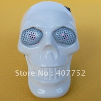 Skull White Mini Speaker for MP3 MP4 PC Loud Sound s322 Brand new and free shipping