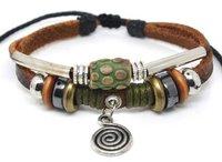 L-0013!free shipping(10 pcs per lot)!wholesale & retail newest fashion leather bracelets for women