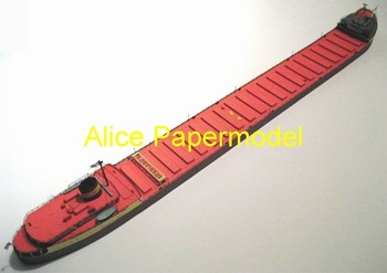 [Alice papermodel] Long 78CM 1:250 ore bulk carrier boats and destroyers fleet transport ship models