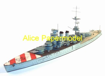 [Alice papermodel] Long 64CM 1:250 WWII Italian battleship Conte Di Cavour destroyers warship models