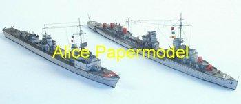 [Alice papermodel] 1:250 WWII sms destoryer Z10 and T24 battleship battlecruiser boat military models