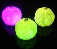Free shipping 20pcs/lot high quality Halloween color changing LED pumpkin lantern night lamp/ Halloween Jack-o-lantern