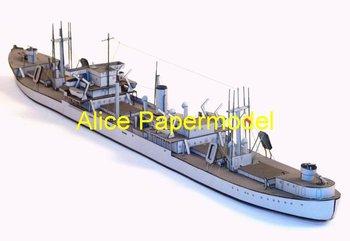 [Alice papermodel] 1:250 WWII Atlantic Transport ship fleet battleship models