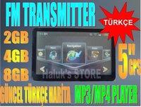 5 inch GPS Navigation FM+MP3/MP4+4GB (FREE SHIPPING)