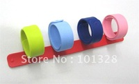 Hot!!! New arrival colorful fashion silicone slap bracelet