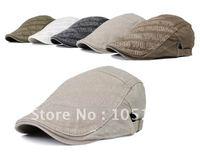Canvas Caps Duckbill Cap Berets Visors Brown Hats Peaked Cap Fashion Headgear Hat 5 colors Free Shipping