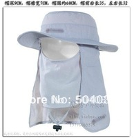 Wholesale Fashion Full sun protection  large brimmed hat  Jungle hat 360 UV protection fisherman cap Anti sand cap sun hat