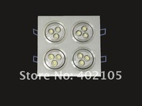 LED Downlight, 4*3*1W,Square, 12W