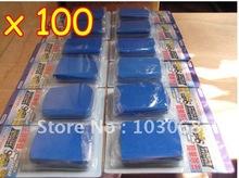 Wholesale Lots Of 100 Blue Auto Clay Bar / Car Detailing Poly Bars Magic Retail Packaging Free Shipping(China (Mainland))