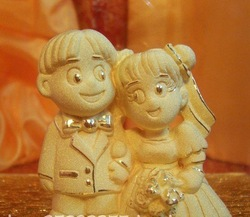 Factory price--24K casting Gold lovers wedding ornaments--Wedding,Valentine's day,Anniversary,Festive gifts(China (Mainland))