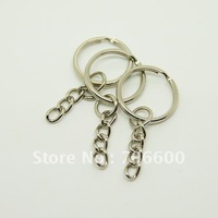 Free Shipping!1.4x17mm Key Ring with 4 link chain,Wholesale New Metal keychains,Key Chain and Key Ring Accessory