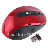 Red 1600 DPI 2.4G Wireless Optical Mouse CPI key