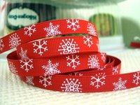 50Y14621-1 david ribbon 3/8'' christmas grosgrain ribbon hairbows printed ribbon freeshipping