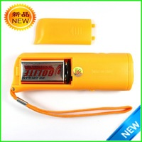 Yellow Plastic ultrasonic Training Banish Dog Pet Flash Light Toy dog trainer machine free shipping