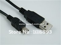wholesale super deal for Christmas ROHS  5 P Mini B&A USB 2.0 Cable For Mp3 Mp4 Camera sps free shipping