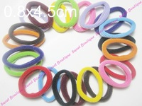 Free Shipping! 48pcs Assorted Color Donut Style Hair Elastics Hair Holder Ponytail Holder Soft And Beautiful!