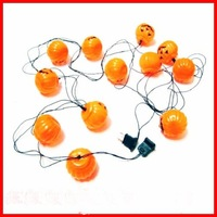 free shipping 5set/lot high quality Hallowmas 12 pcs LED pumpkin lanterns strip with plug/ hallowee LED pumpkin lanterns stripe