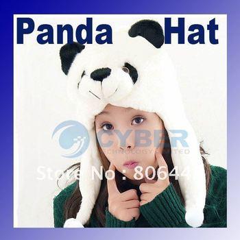 Cartoon Animal Fluffy Plush Earmuff Warm Panda Hat Cap/Beanie 685