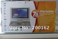 "In Car 7.8"" Portable DVD Player TV MP3 SD USB 600 Games"