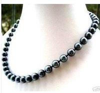 wholesale-beautiful Creamy Culture Fresh Water Pearl 7-8mm Black Pearl Necklace