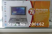7.8 inch Dual screen portable dvd Car DVD  Hongkong Post Air Mail  Free shipping with USB PORT and SD/MMC CARD reader