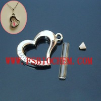 Name On Rice Vial Jewelry , Glass Vials For Rice Jewelry ,Rice Jewelry, Rice Vials - Heart (5MM Glass Vials)