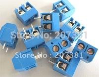 FREE SHIPPING 20pcs 2 Pin Screw Terminal Block Connector 5mm Pitch B 2P 5mm *