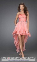 A-line  Elegant Strapless Short Cocktail Dress Evening Dress  Bridesmaids dresses  free shipping