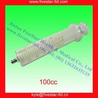 Glass Syringe With Metal Luer Lock Tip 100ml /100cc