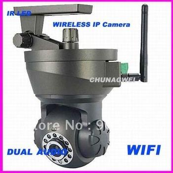 Wi-Fi IP Camera PTZ Dual Audio Wireless Internet Day/Night IR Led Camera