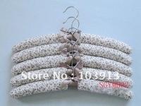 MOQ 12pcs Printed Cotton Cloth-Hangers Adult Closet Hangers Indoor Hangers +Free Shiping