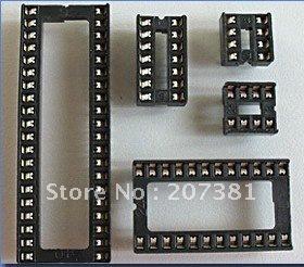 45pcs Assorted DIP IC Sockets 8 14 16 18 20 24 28 32 40