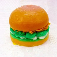 Soap Molds Cake Molds Hamburgers Toast Molds Christmas Gift Flexible Silicone Mold/Mould For Soap Candle Candy  Jelly Cake Craft