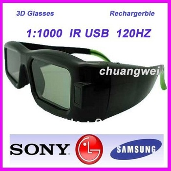 Hottest! Active DLP 3D Shutter Glasses for DLP Projector and DLP 3D TV