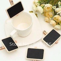 Free Shipping/NEW Cute Small wooden clip/Wooden blackboard clip/Clip board/Message folders/Fashion Style/creative Gift/Wholesale