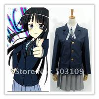 Christmas Gift K-on Hirasawa Yui Uniform Cosplay Costume Freeshipping Wholesale and Retail