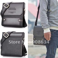 High Quality Brand New, Zipper+ Buckle Men's PU Leather Messenager Briefcase Purse Bag