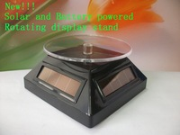 Solar and battery double powered display stand Solar power turntable Rotating display Free shipping