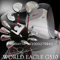 Free Shipping 2012 hot sell complete golf club with Pu golf bag, Titanium driver+ graphite shaft (3w+8i+1p+1bag+3hc)