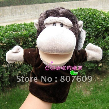 "Wholesale  10"" NICI finger toys of Monkey Active toy brand Baby Plush Hand Puppet baby love"