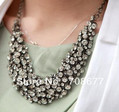 Free shipping,  New Small Gun-black Chains Rhinestone Pure Handcraft Necklace