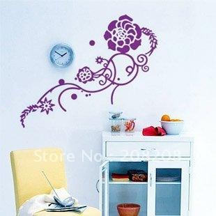 Free shipping ,Wholesale And Retail , Wall sticker,room sticker,window sticker house decorative sticker, Flower Vine ,D-40