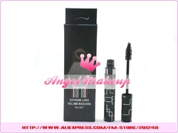 wholesale new arrival beauty make up extreme long volume mascara black 8g (10 pcs/lot) free shipping(China (Mainland))