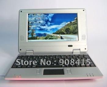 Free shipping ! 7 inch Laptop WIFI Windows CE 6.0 2GB HD Mini laptop best price
