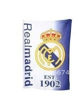 Cotton Real Madrid Football Club Design Towel (White),Real Madrid design towel,Club towel,free shipping