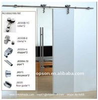 (high polish)Free shipping+Interior glass sliding door+full set hardware