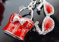 Wholesale hot /fashion /high quality bikini shape gift/bag accessory / key chain free shipping