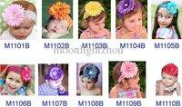 In stock ----Baby new headband infant girls Children's hair accessories kids hair clips daisy flower0509-5#50pcs
