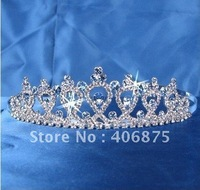 Bridal Wedding Prom Blue Pageant 4346B Tiara Made with Swarovski Crystal