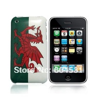 OEM  National Flag Hard Back Case For Apple iPhone 3GS 3G of  Welsh Flag  100pcs/Lot  DHL free shipping
